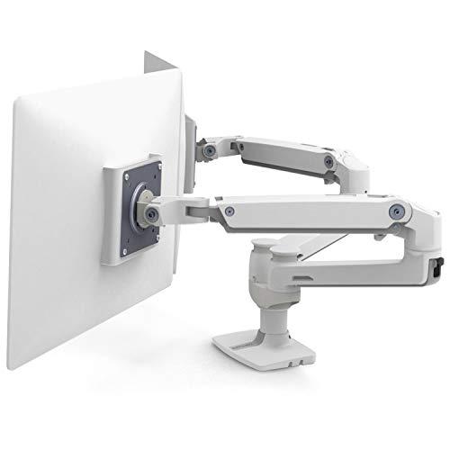 エルゴトロン LX デスクマウント デュアル モニターアーム 横型 ホワイト 27インチ(6.4~18.1kg)まで対応 45-491-216