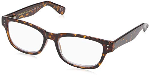 Foster Grant unisex adult Conan Multifocus Reading Glasses, Tortoise/Transparent, 54 mm US
