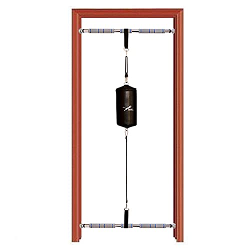 YXX Leather Double End Punching Bag for Doorway & Door Frame, with Adjustable Length Stand -...