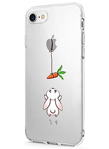 Caler ® Funda Reemplazo para iPhone 7/iPhone 8/iPhone SE2/iPhone 9 Funda, Suave TPU Gel Silicona Ultra-Delgado Ligera Anti-rasguños Dibujos Protección Cuentos de Hadas Carcasa (Conejo)