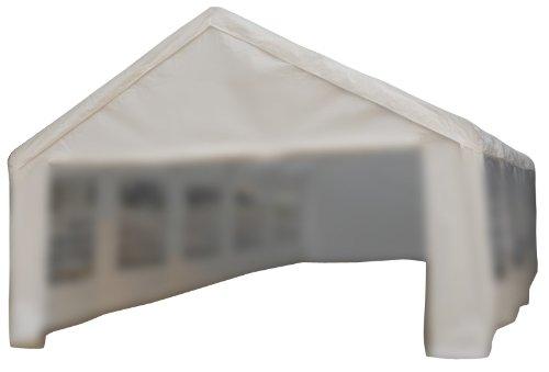 Nexos Pavillondach/Ersatzdach/Wechseldach/Dachbezug für Partyzelt Festzelt Zelt 5x10m - Dachplane 180g/m² PE wasserdicht – Farbe: weiß