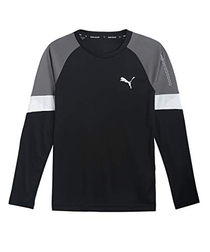 PUMA Jungen Active Sports Longsleeve Poly T-shirt, Black, 152