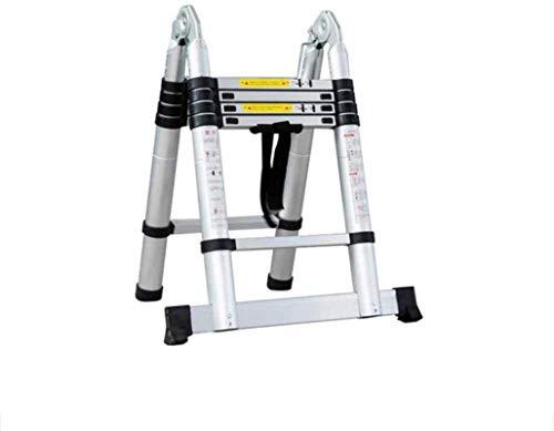 ZfgG Een Frame Telescopische Vouwladder Aluminium Uitschuifbare Verlenging Opvouwbare Draagbare Stappen Ladders Binnen Outdoor 330lbs Laadcapaciteit 1.6M+1.6M