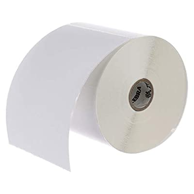 Zebra - 4 x 6 in Direct Thermal Paper labels, Z-Perform 2000D Permanent Adhesive Shipping labels, Zebra Desktop Printer Compatible, 1 in Core - 6 rolls - 10031643SP