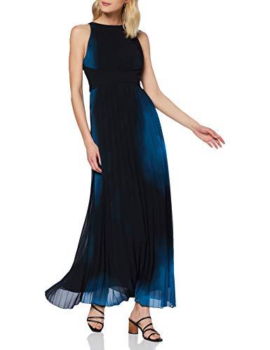 APART damska sukienka szyfonowa z kwiatami, czarny, 34 PL