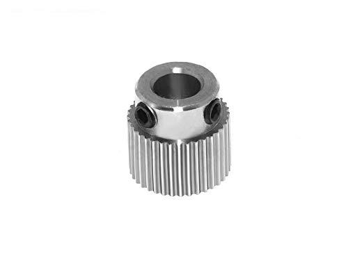 Pignone/ruota dentata per allenamento in acciaio inox, 36 denti, asse da 5 mm, estrusore stampante 3D, ideale per Creality, Anet, Anycubic, Geetech ecc.