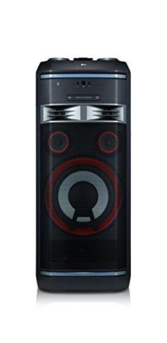 LG OK99 High Power Hifi System mit CD, Radio, USB und Mikrofoneingang Chrom/Schwarz/Rot