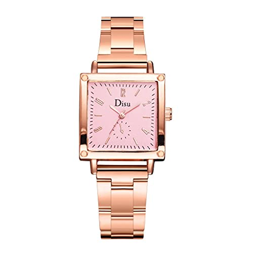 Women Watches Analog Quartz Square Dial Stainless Steel Mesh Brand Alloy Strap Girl Wristwatch Teen Girls Fashion Watches