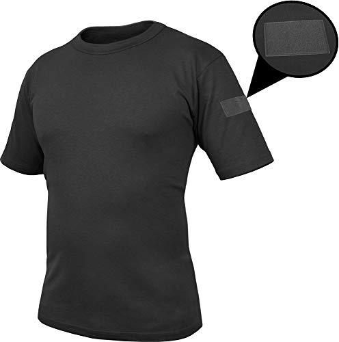 normani Tactical BDU Kampfshirt T-Shirt mit Klettpatches, Armtaschen und versteckten Seitentaschen Farbe Schwarz-Captain Größe 7/L