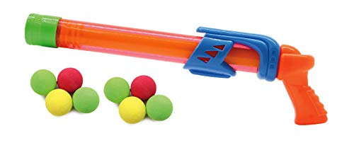 Jamara 460312 – Mc Fizz Fizzy Balls oranje – 2-in-1 waterpistool met zachte ballen, water spuiten of ballen schieten, pompsysteem, gemakkelijk te bedienen, sproeibereik ca. 7 m. Balbereik ca. 9 m.