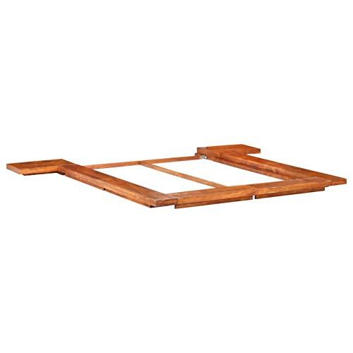 Tidyard Estructura para Futón Japonés Marco de Cama Madera Maciza de Acacia 160x200 cm