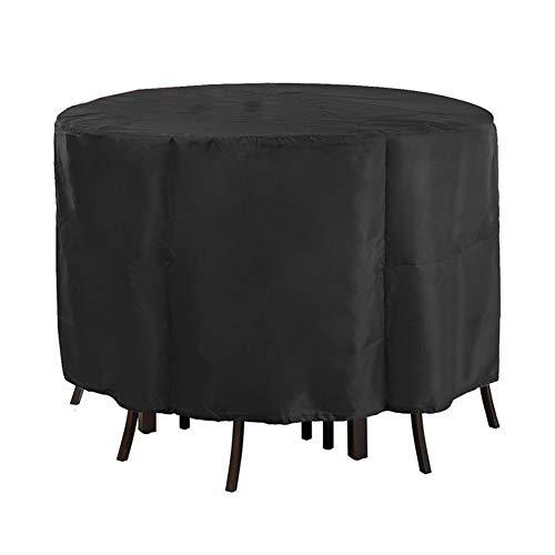 NINGWXQ Garden Furniture Cover Ronde Tafel Terras waterdicht Tarpaulin Waterproof Dust-proof Outdoor tafel dekken Common In All Seasons, 25 Maten (Color : Black, Size : 220x90cm)