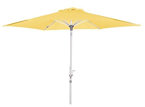 BrellaCo Sonnenschirm Kurbel, Gelb, 305 cm/6 tlg.