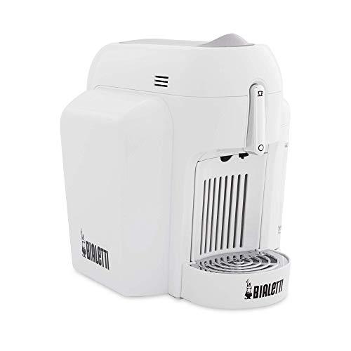 Bialetti Mini Macchina da Caffè Espresso per Capsule in Alluminio sistema Bialetti il Caffè d'Italia, White