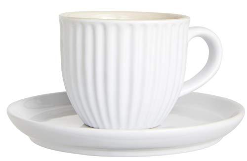 Ib Laursen Mynte Tasse & Unterteller pure white