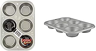 Muffin Cupcake Baking Tin. Stainless Steel Cupcake Tray.Oven Cooking Baking Pan. Dishwasher Safe. Muffin Baking Cupcake Pans 6-Cup