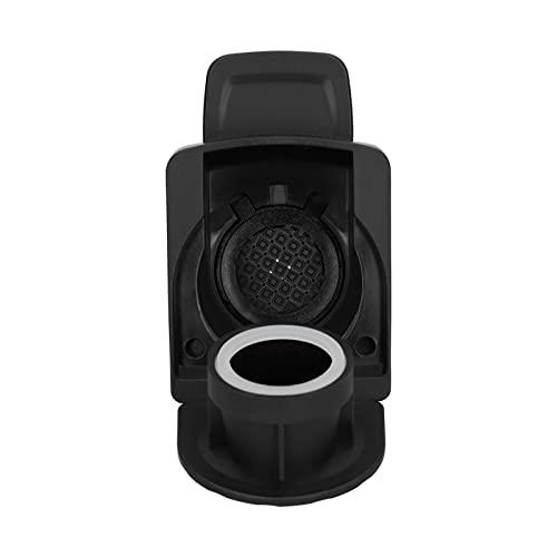Ranvo Adaptador de cápsula de café, PP + 304 Accesorio de cafetera Reutilizable Resistente al Desgaste de Acero Inoxidable para la mayoría de Las máquinas de café(Negro)