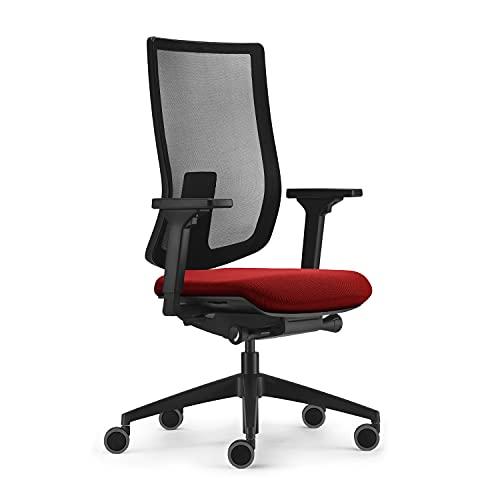 Sedus ap-197/025 Silla de Oficina, Rojo, Ajustable