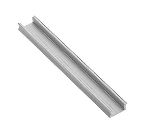 LineMini Aluminium LED-Profil mit Opal, matter lichtstreuender Kanal für 12V 24V 505056303528Lichtstreifen Einfarbig RGB Weiß Küchenschrank, 5 x 1 Meter