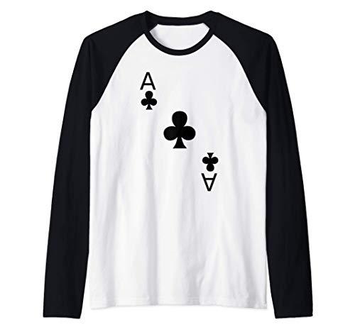 Disfraz de as de trboles Wonderland Camiseta Manga Raglan