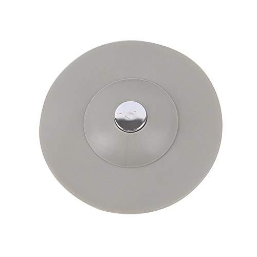 Deodorant vloer afvoer TPR siliconen stuiteren wastafel Plug zwembad Plug riool Filter Badkuip Plug Vliegende schotel Cover Anti-Clogging Lichtgrijs