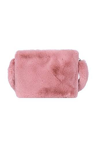 Ulisty Donne Autunno Inverno Pelliccia ecologica Borsa a tracolla felpa Cinghia Soffice borsetta rosa