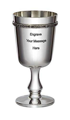 Wentworth Pewter - Celtic Band Pewter Goblet Free Engraving