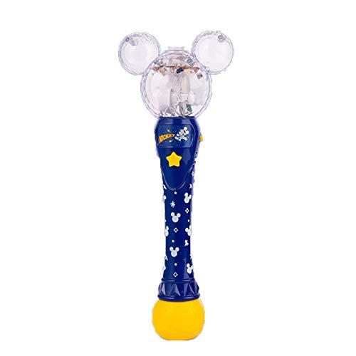 WBOSHI Light Up Mickey Bubble Stewer Wand - Illuminating Bubble Spoter con Efectos de la emoción LED para los niños, Gran Idea de Regalo,Blue