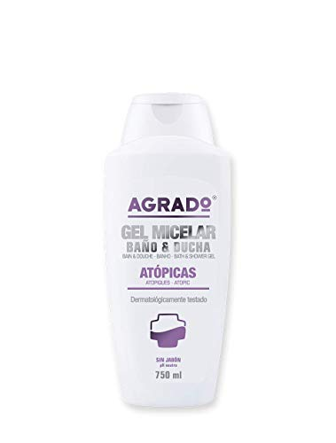 Gel piel atópica Gel Micelar de Baño y Ducha Pieles Atópicas Sin Jabón 750 ml Agrado