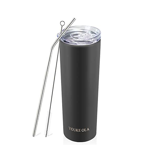 Stainless Steel Skinny Tumbler 20oz – Vacuum Insulated Double Wall Travel Mug...