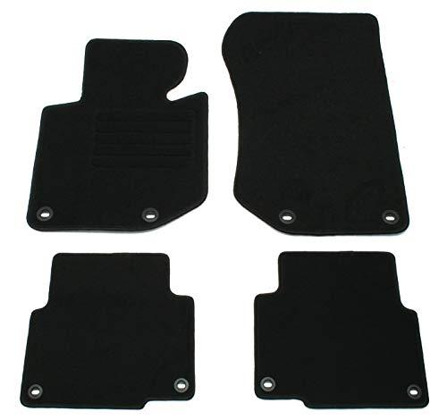 AD Tuning GmbH hg1717Terciopelo Ajuste Soporte Negro Auto Juego de Alfombrillas para alfombras Alfombras Carpet Floor Mats