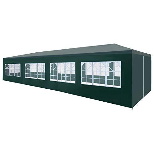vidaXL Tente de Réception 3x12 m Vert Tonnelle Chapiteau de Jardin Pavillon
