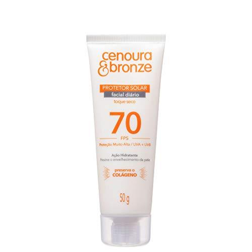 Protetor Solar Facial Cenoura e Bronze FPS 70