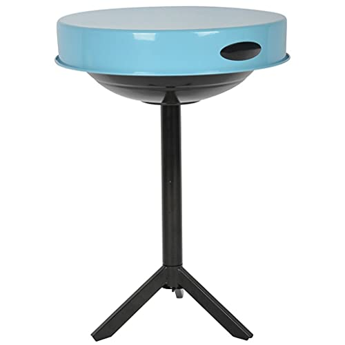 Oushome Esschert Design FF251 - Rejilla de mesa de carbón de acero azul