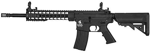 Fusil eléctrico Airsoft LT-19 G2 M4 keymod 10' Combo 1 Julio Lancer Tactical AR-15 Rifle táctico 6 mm 330 fps (Incluye batería y Cargador)