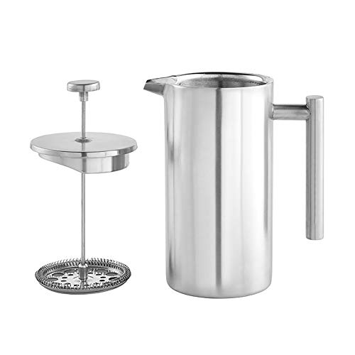 Best Prices! SGSD Coffee Maker 304 Grade Stainless Steel Insulated Coffee Press with 3 Extra Screens...