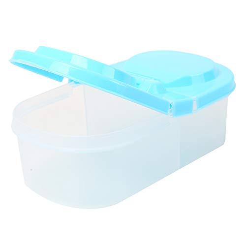 WEIHEEE Caja apilable de plástico para cocina, para nevera, contenedor de almacenamiento de alimentos, tapa organizadora para paquetes de café, té, barras de aperitivos, color azul