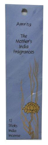 Varillas de incienso de alta calidad, 12 unidades, 1-2 h de combustión, canela, pachuli y madera de cedro, perfectas para meditación y relajación, de la marca The Mother's India Fragrances