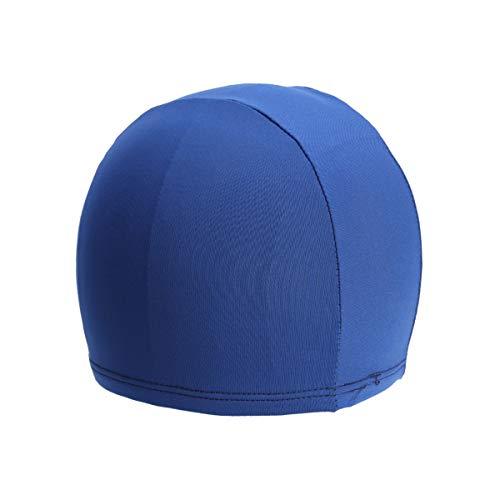 Clispeed Cuffia da Nuoto per Uomo Donna, Morbido Tessuto Cuffia da Bagno Unisex Comodo Cappello da Bagno Cuffia per Capelli Corti Lunghi (Blu Scuro)