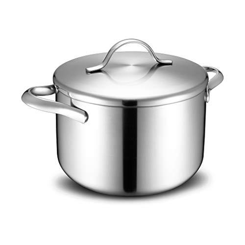 Pot À Soupe En Acier Inoxydable Acier Inoxydable Composé À Trois Couches Cuisinière À Gaz Cuiseur Oreilles Ménage Pot À Lait Soupe 24cm
