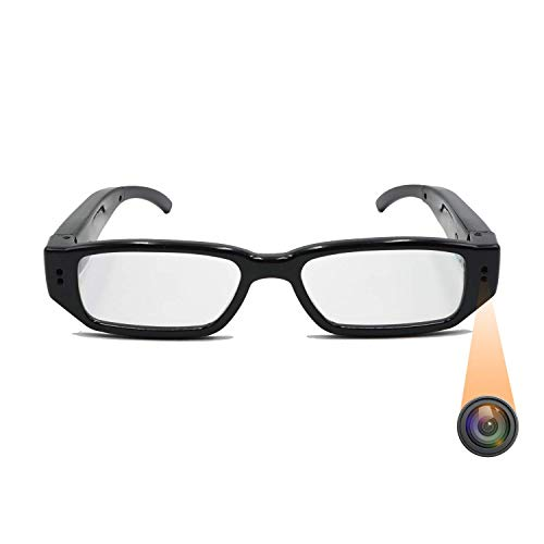 Sheawasy Camera Glasses Full HD 1080p, Video and Photo Shooting Wearable Glasses Camera, Fashion Glasses Mini Video Camera, Unisex Design for Both Man and Woman Use, No Bluetooth or WiFi