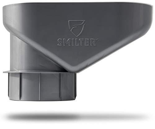 SMILTER Laubfilter für Regenfallrohre DN100 - PVC frei! - verschiedene Farben (Silbergrau Metallic)