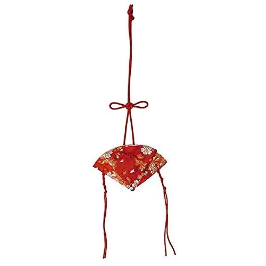 神秘的な荒涼とした修正掛香 扇 桜 赤(赤紐)