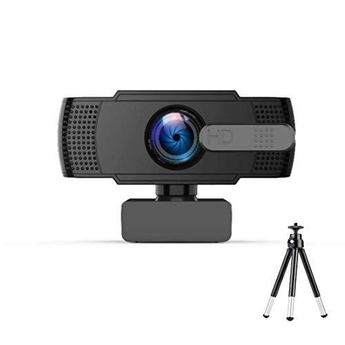 Webcam HD 1080P, caméra Web avec microphone, cache de confidentialité pour webcam, trépied, caméra vidéo Plug and Play pour ordinateur portable, pour diffusion en direct, chat vidéo, conférence