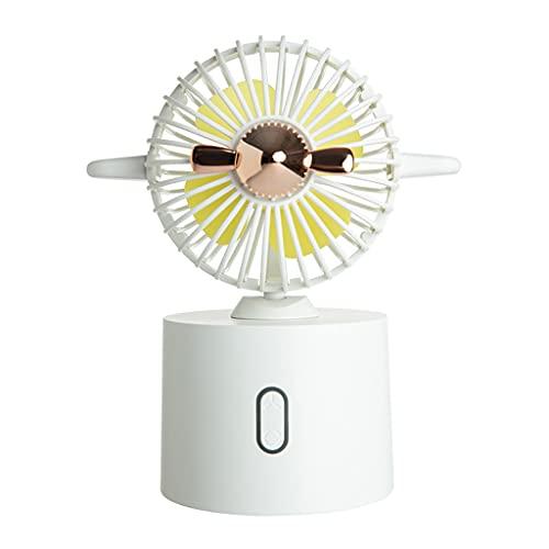 ColourQ F7 - Ventilador de mesa pequeño con cabeza de sacudida para el hogar, oficina, coche, viajes al aire libre