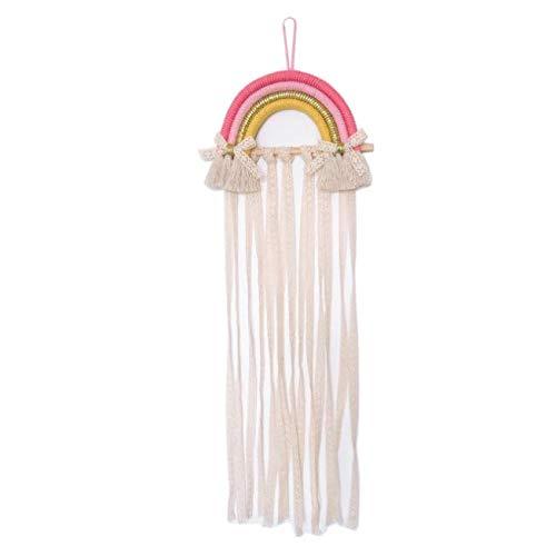GOODCHANCEUK Regenbogen-Haarspangenhalter für Mädchen – Dekoration zum Aufhängen an der Wand und Baby-Haarschleife