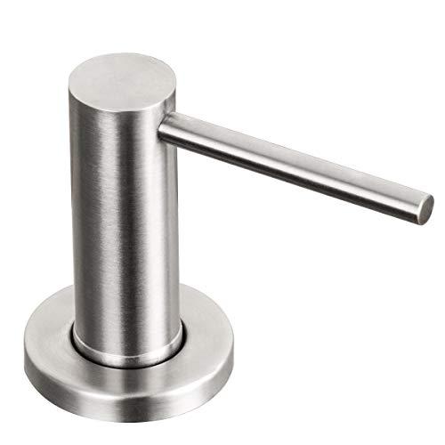 GAPPO - Dispensador de jabón, accesorio moderno para fregadero, dispensador de champú, dispensador de lavavajillas para cocina, baño, ducha, acero inoxidable cepillado