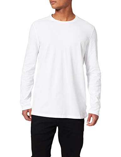 Springfield Camiseta Manga Larga, Blanco, XL para Hombre