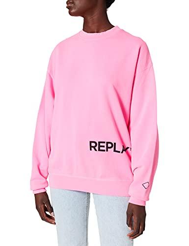 REPLAY W3586 Maglia di Tuta, 817 Pink Fluo, S Donna