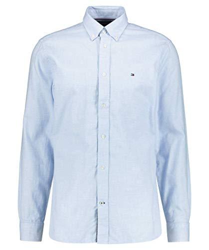 Tommy Hilfiger Herren Melange Dobby Shirt Hemd, Copenhagen Blue, XL
